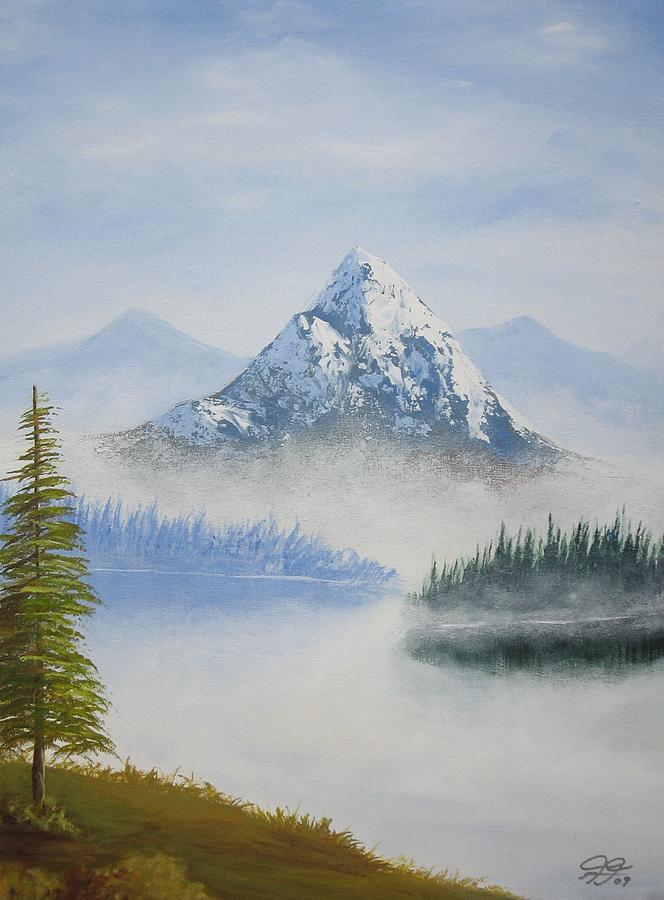 Landscape Painting - Snowy Landscape by Christian  Hidalgo