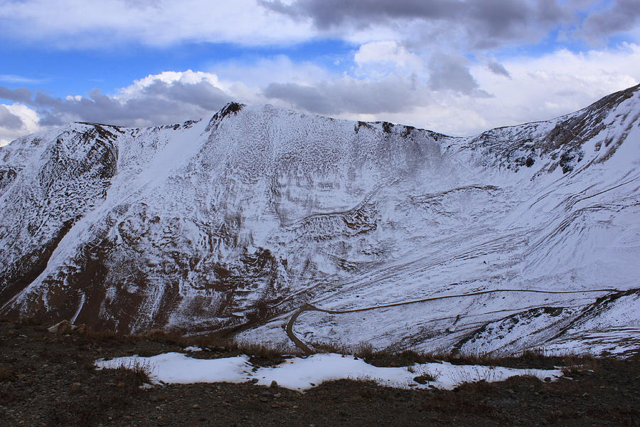 Mountain Photograph - Snowy Mountain by Angie Wingerd