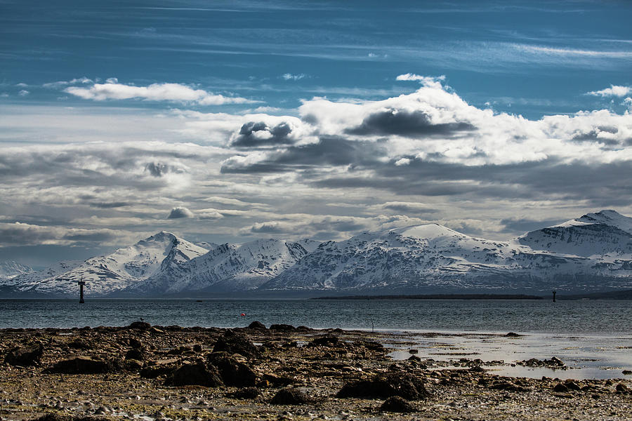 Norway Photograph - Snowy Mountains by Sebastian Worm