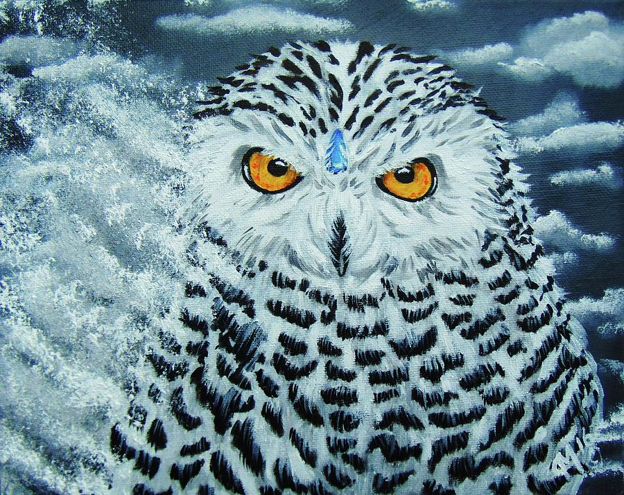 Snowy Owl Spirit Painting By Echoes From The North