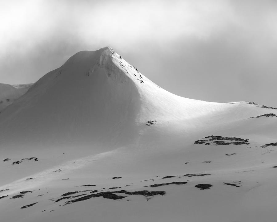 Iceland Photograph - Snowy Peak over Grundarfjordur by Glen Sumner