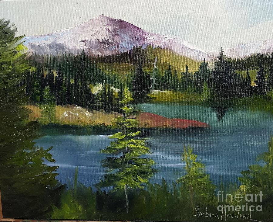 Landscape Painting - Snowy Range by Barbara Haviland