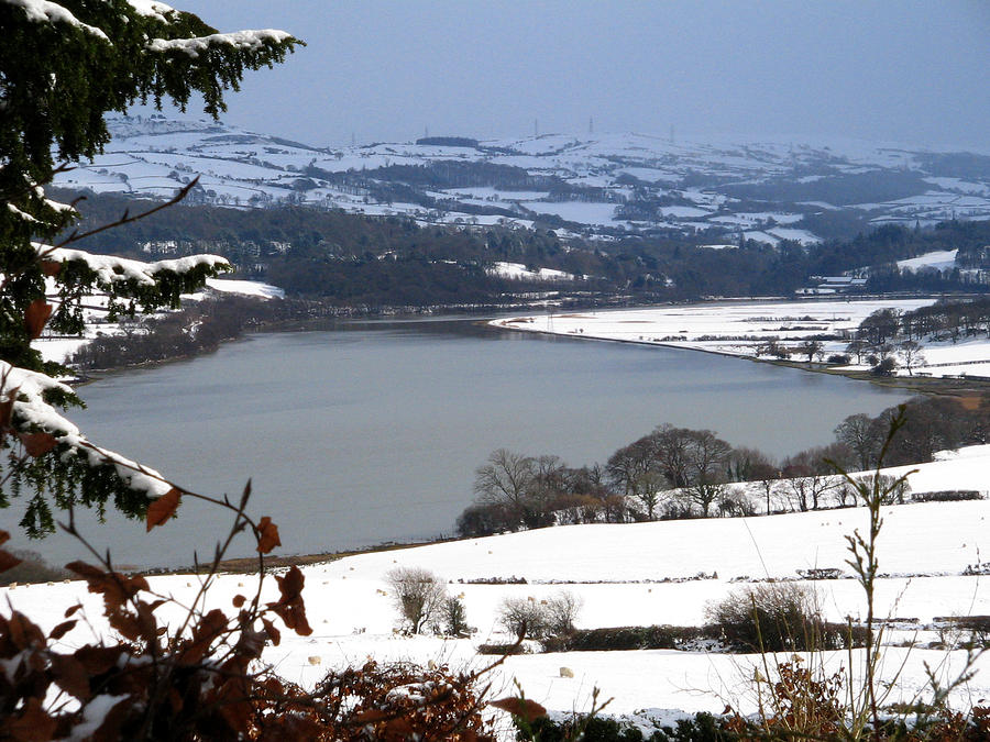 Snow Photograph - Snowy River Conwy by Gary Rowlands