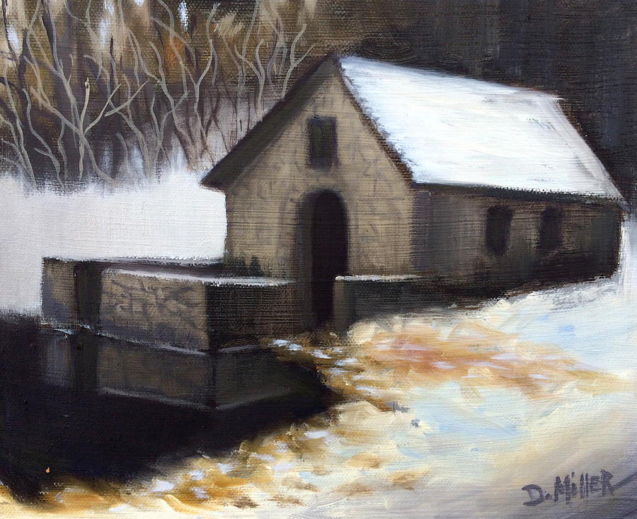 Snow Painting - Fallen Snow by Dustin Miller