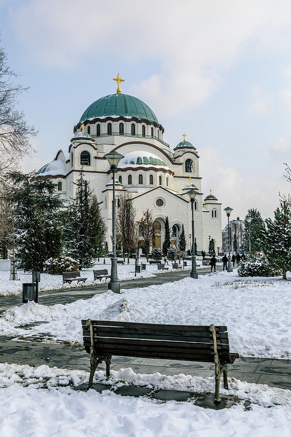 Magnificent Photograph - Snowy St. Sava Temple In Belgrade by Dejan Kostic