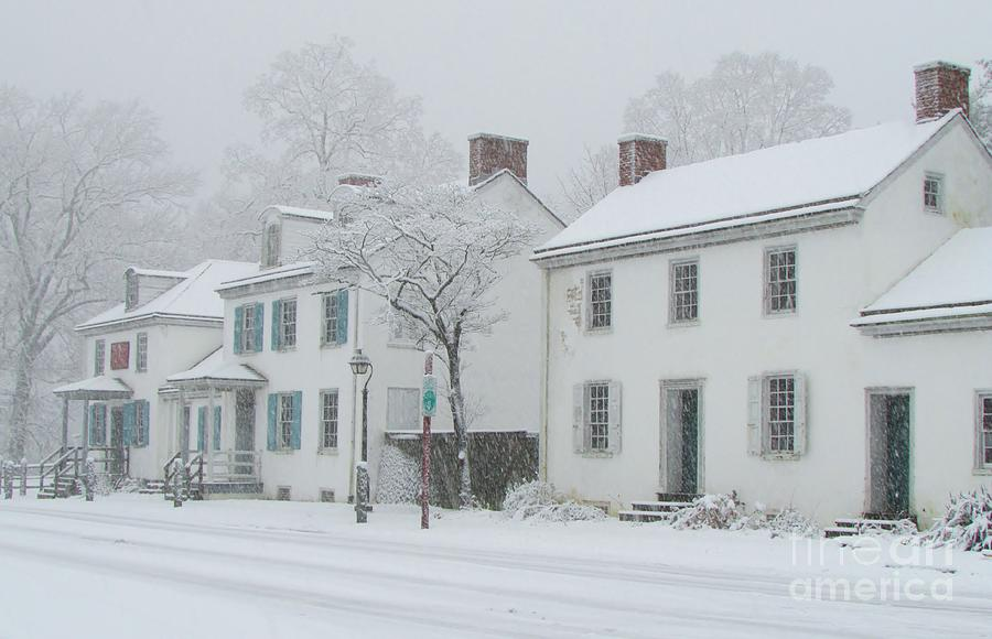 Washington Crossing Photograph - Snowy Washington Crossing by Anne Ditmars