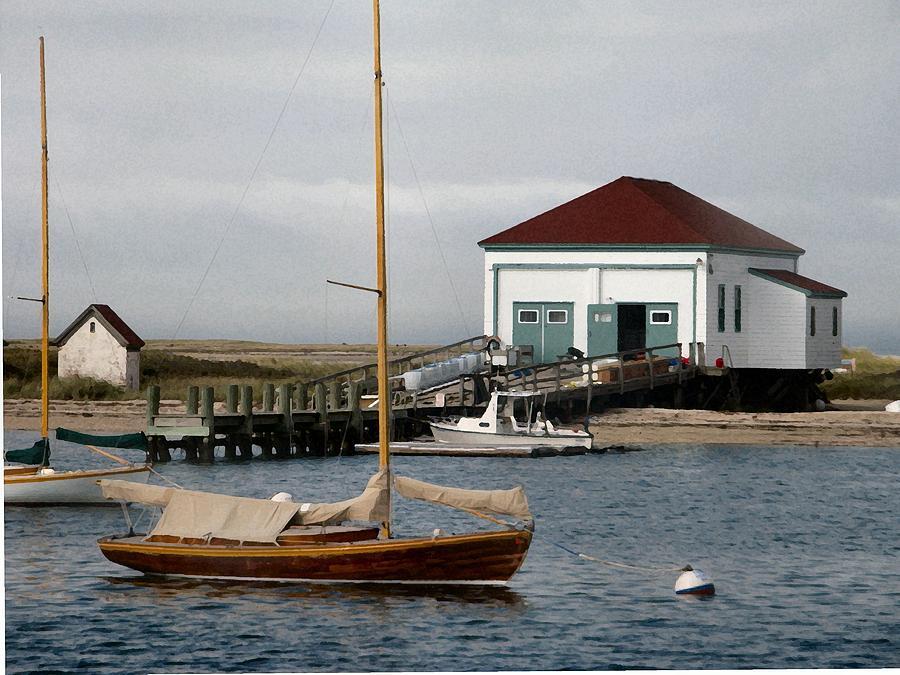 Sailboat Photograph - Snug by Lin Grosvenor