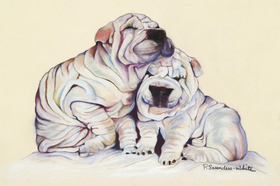 Snuggles  Pastel by Pat Saunders-White