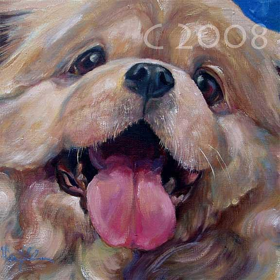 Snuggly Painting by Lucky Dogs