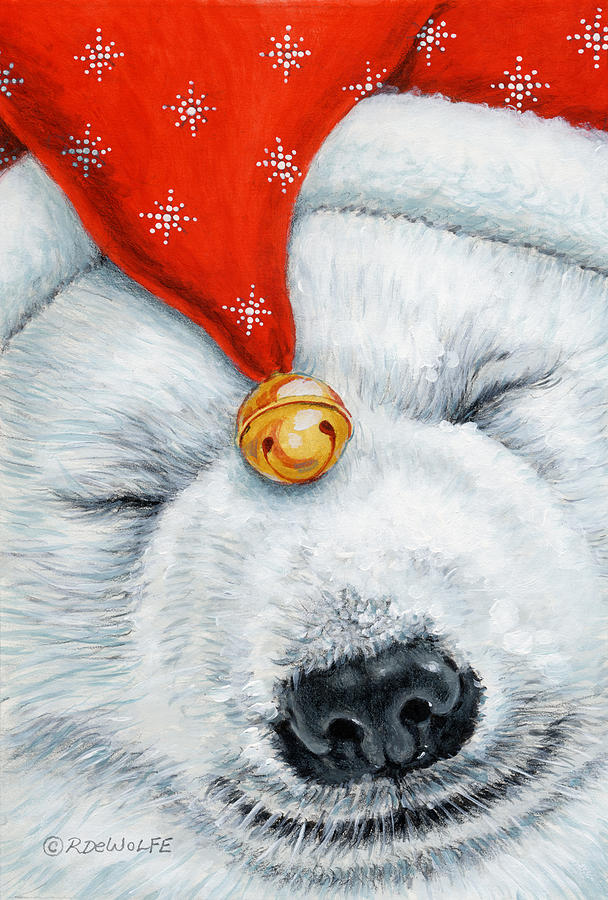 Night Cap Painting - Snuggy Bear by Richard De Wolfe