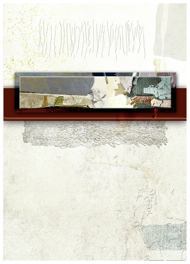 Abstract Digital Art - So Cold So White So Fair by James VerDoorn