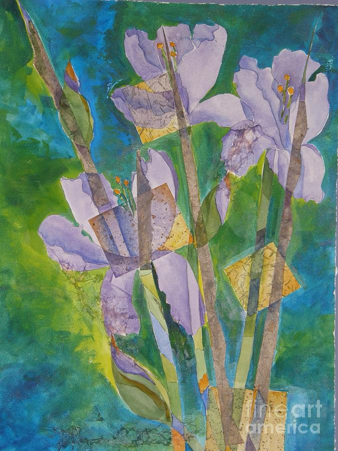 Gladiolas Painting - So Glad To See You by Midge Pippel