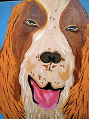 Pet Portraits Painting - So Happy by Suzanne Filotei
