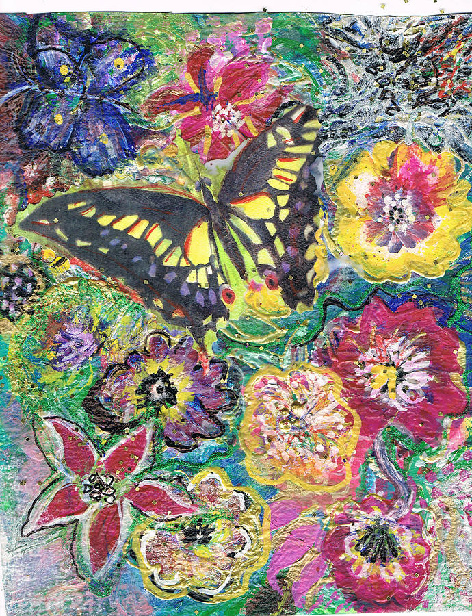 Flowers Painting - So Many Flowers So Little Time by Anne-Elizabeth Whiteway