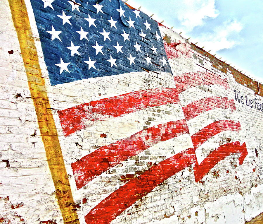 American Flag Photograph - So She Waves by Chuck Taylor