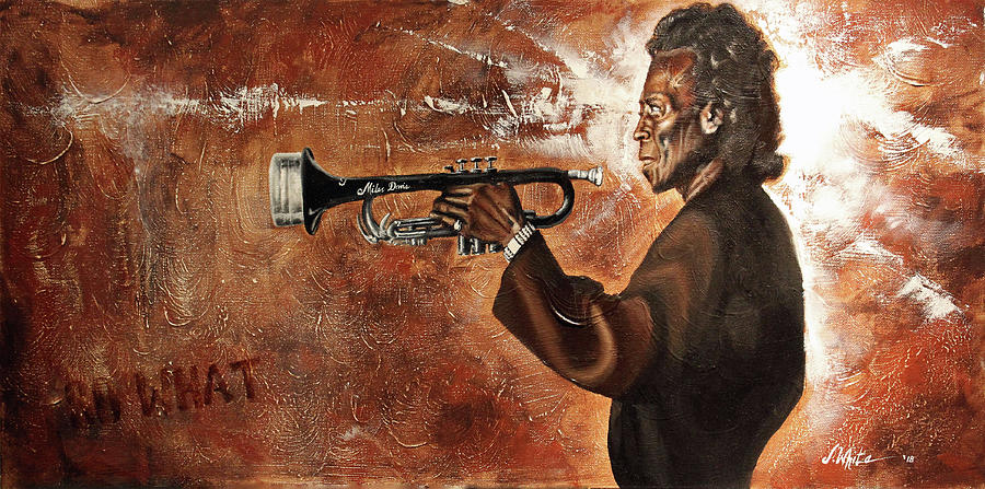 Miles Davis Painting - So What-Miles Davis by Jerome White