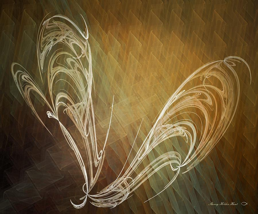 Abstract Digital Art - Soar by Sherry Holder Hunt