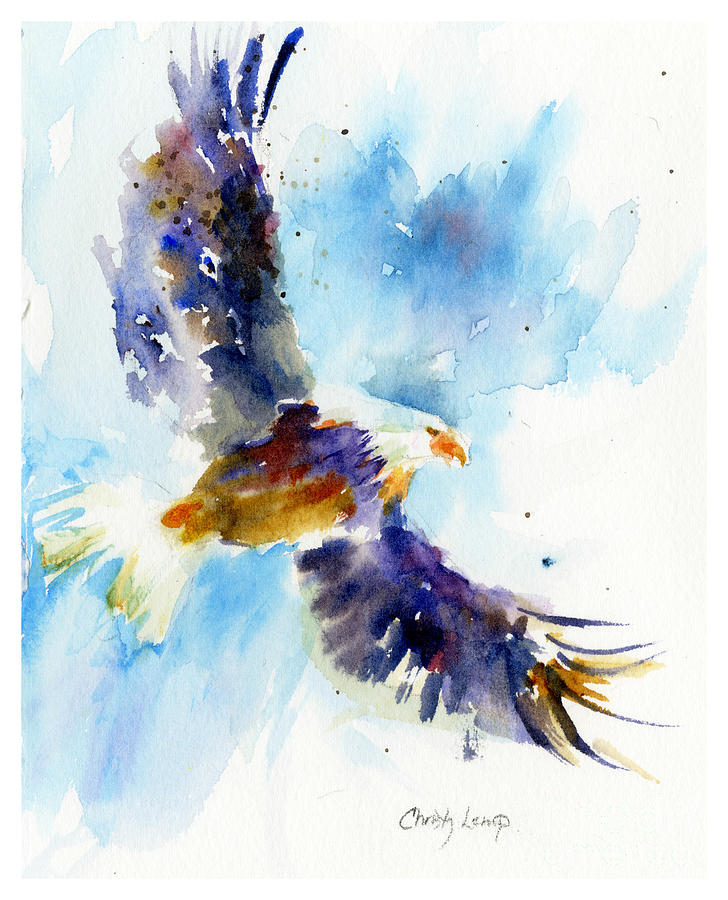 Eagle Painting - Soaring Eagle by Christy Lemp