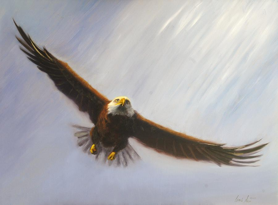 Oil Painting - Soaring Eagle by Greg Neal