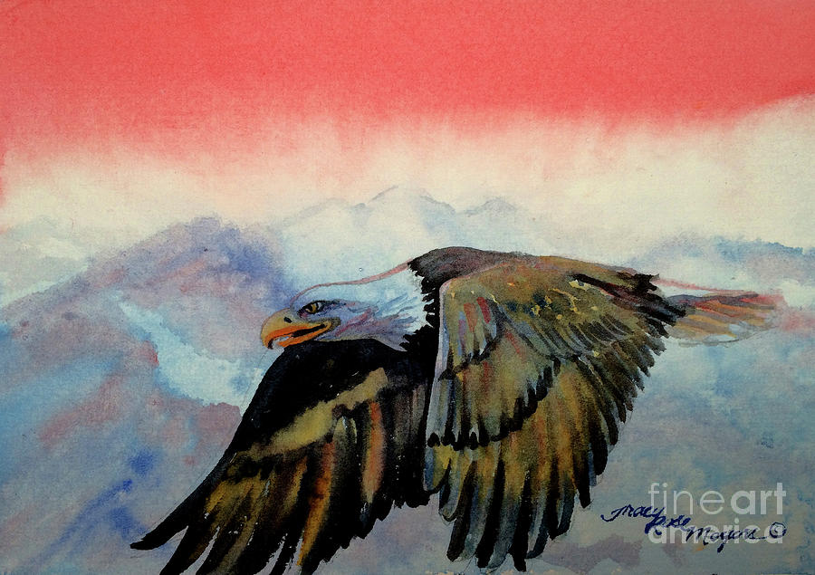 Eagle Painting - Soaring High by Tracy Rose Moyers
