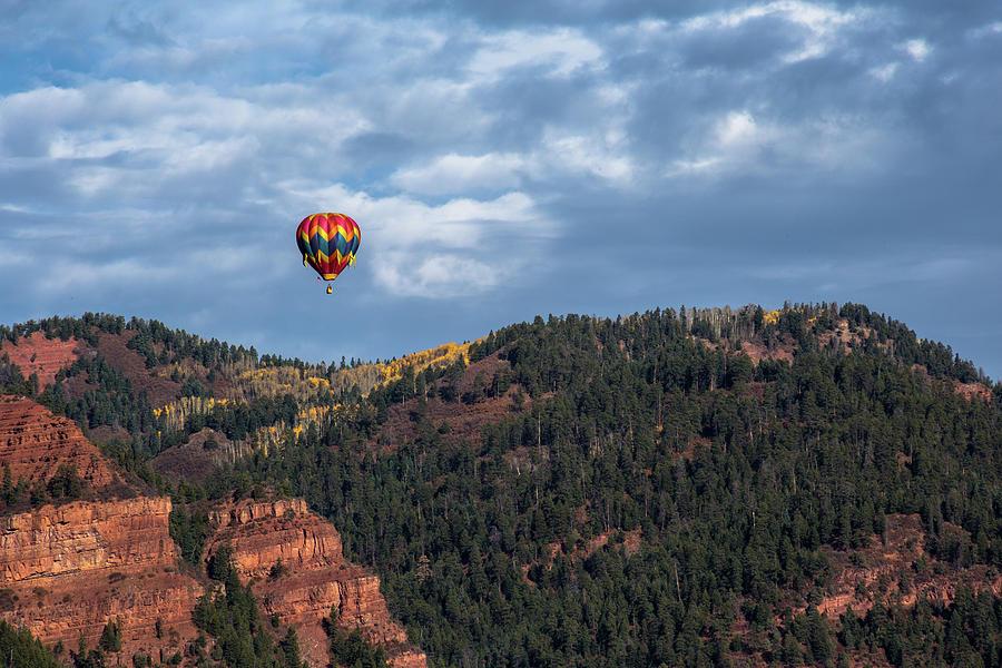 Hot Air Balloon Photograph - Soaring by Jen Manganello