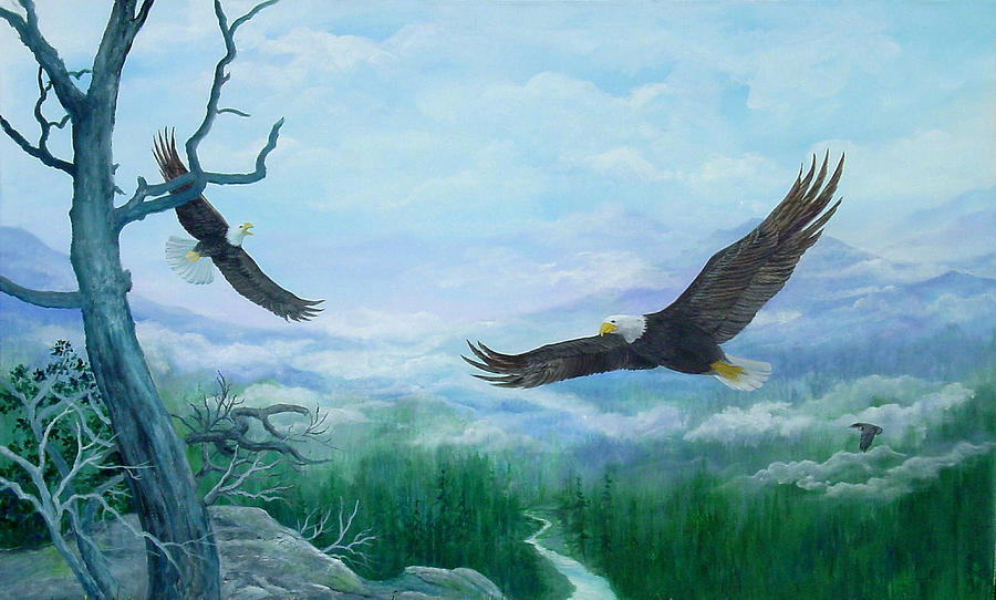 Soaring Painting by Lois Mountz