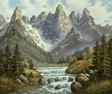 Soaring Peaks Painting by Suleyman Mavruk