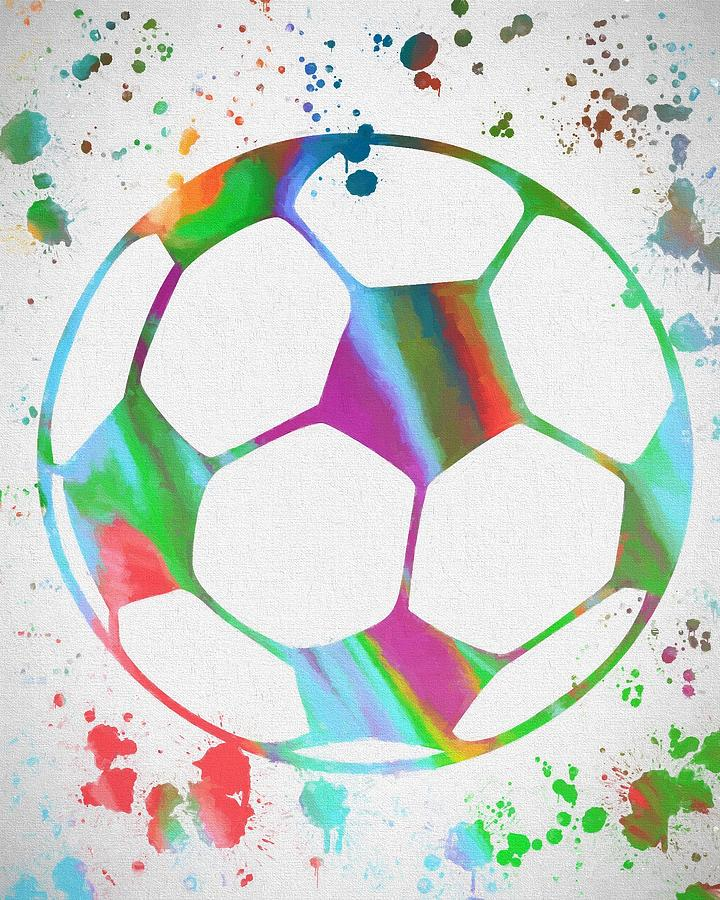 Soccer Ball Paint Splatter Painting