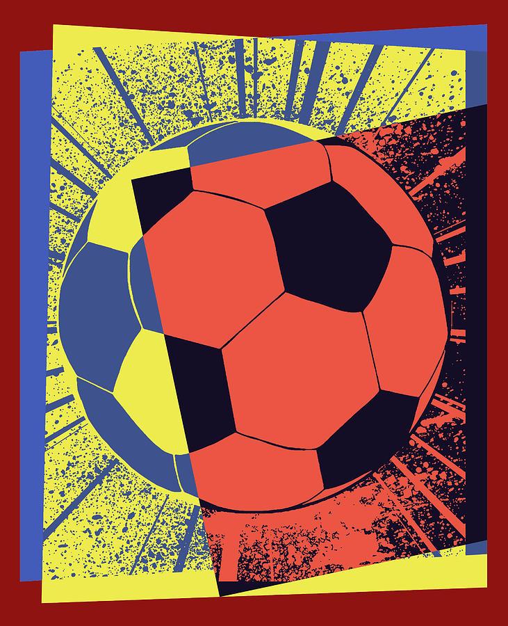 Soccer Ball Pop Art Digital Art