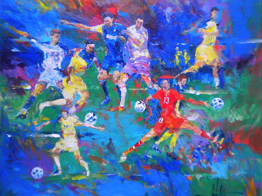 Αποτέλεσμα εικόνας για Soccer painting