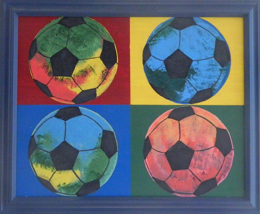 Painting Painting - Soccer Balls by Ken Pursley