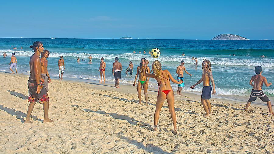 soccer rules on ipanema beach in rio de janeiro brazil photograph by