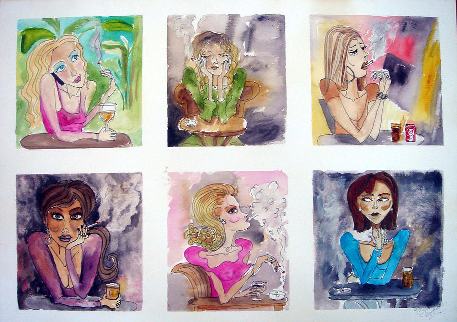Social Whirl Painting by Jenni Walford