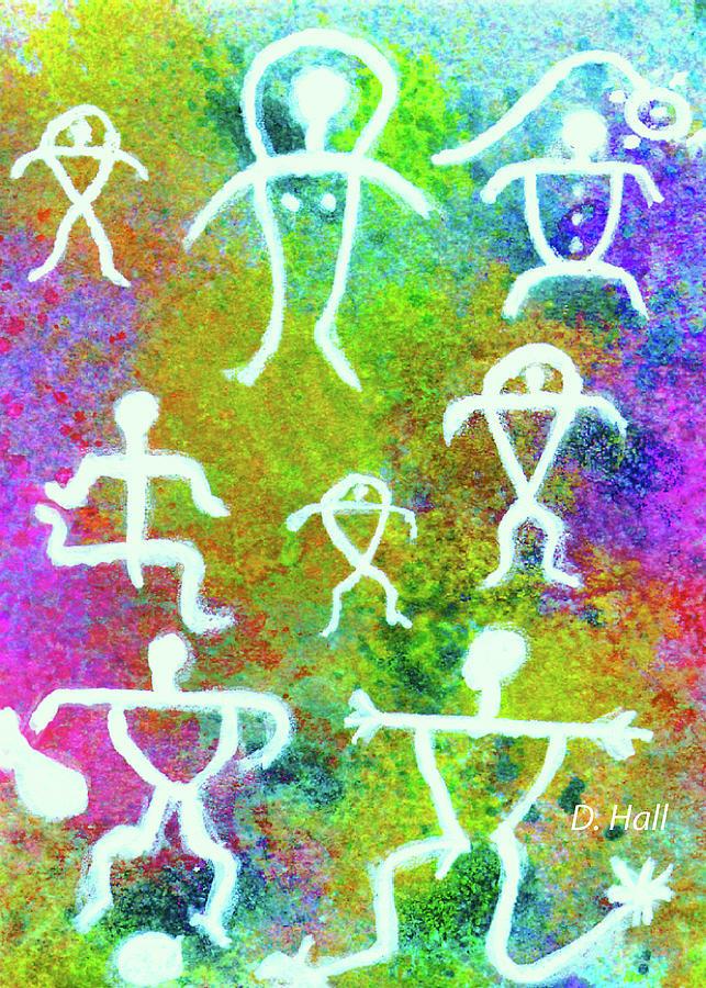 Hawaiian Petroglyphs Painting - Society #221 by Donald k Hall