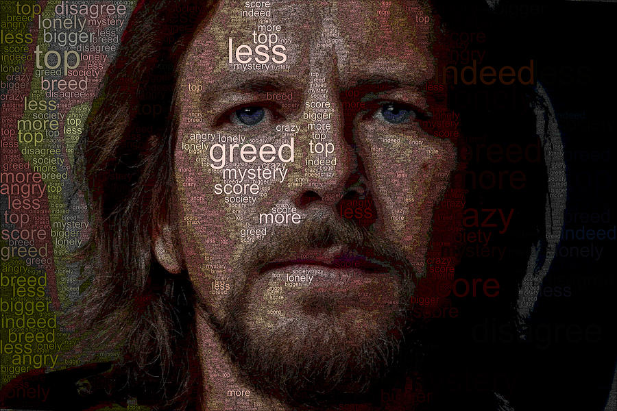 Eddie Vedder Digital Art - Society by Norb Lisinski