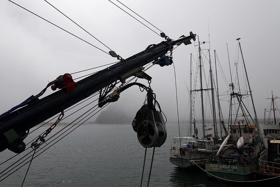 Sailboats At Morro Bay With Morro Rock Stock Image - Image