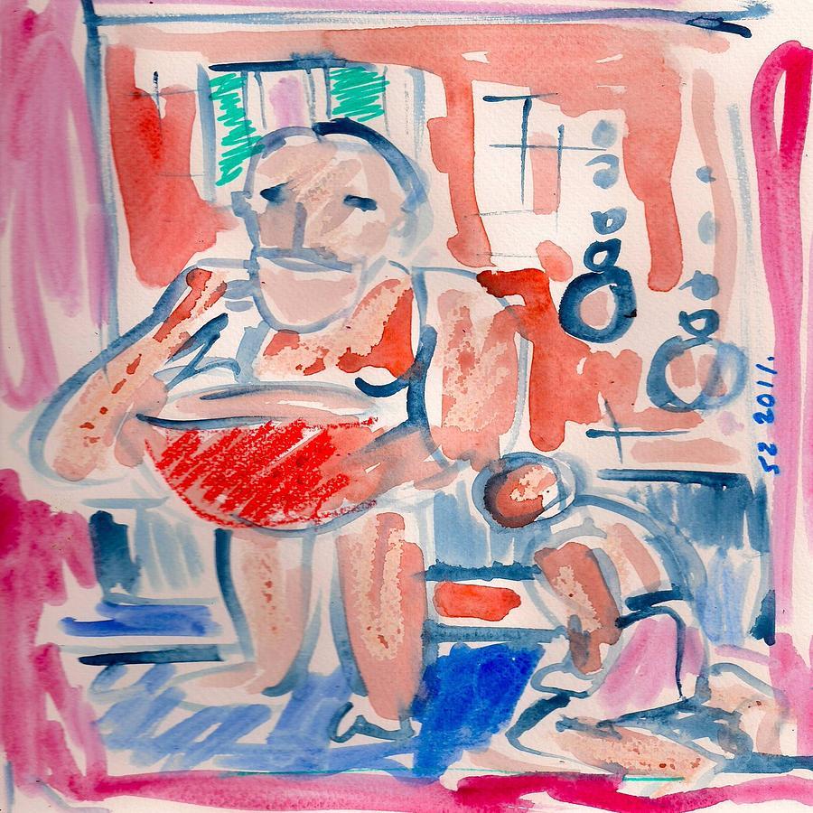 Mindscape Painting - Socrates. by Samuel Zylstra