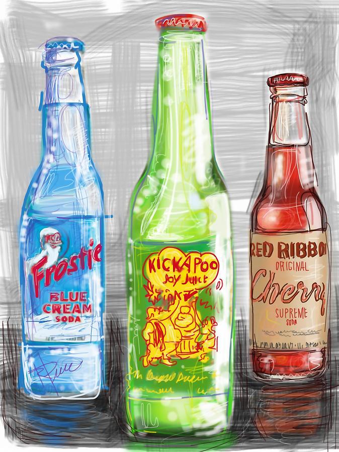 Nostalgia Digital Art - Soda Pops by Russell Pierce