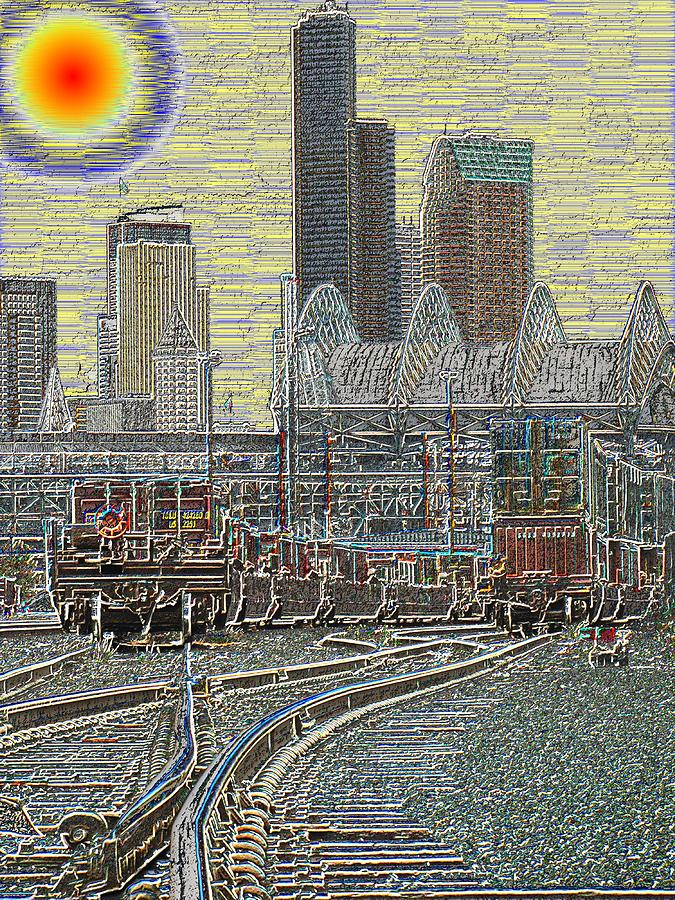 Abstract Digital Art - Sodo Tracks by Tim Allen