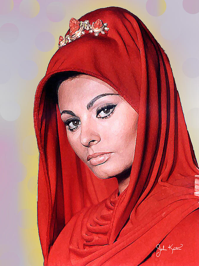Sofialoren Digital Art - Sofia Loren by John Keaton