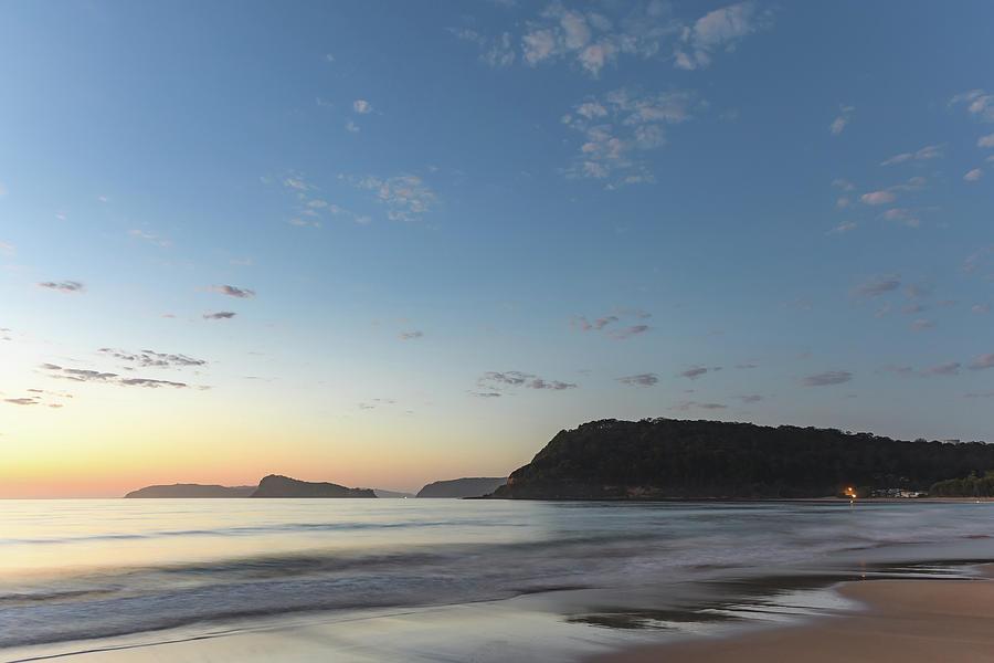 Umina Beach Photograph - Soft Blue Dawn Seascape by Merrillie Redden