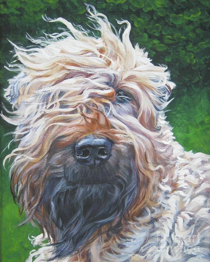 Dog Painting - Soft Coated Wheaten Terrier by Lee Ann Shepard