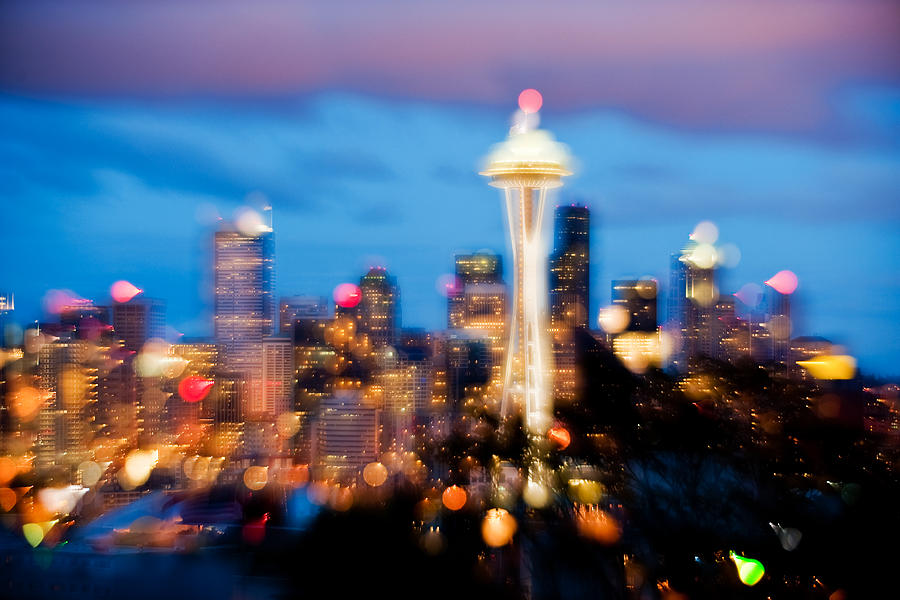 Seattle Photograph - Soft Color Night  by Yoshiki Nakamura