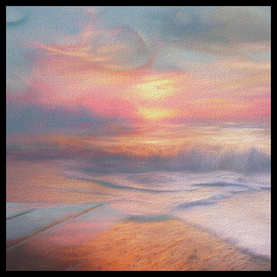 Evening Digital Art - Soft Dream by Karo Evans
