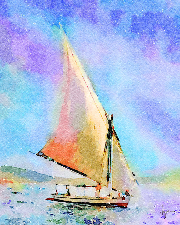 Soft Evening Sail by Angela Treat Lyon