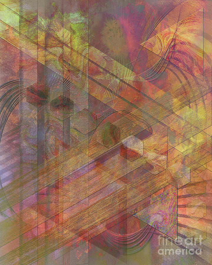 Abstract Digital Art - Soft Fantasia by John Beck