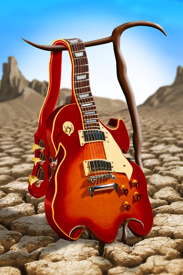 Rock And Roll Photograph - Soft Guitar by Mike McGlothlen