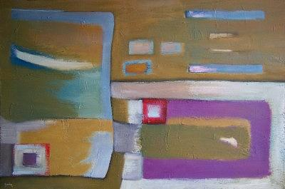 Abstract Painting - Soft Landing by Scott Spencer