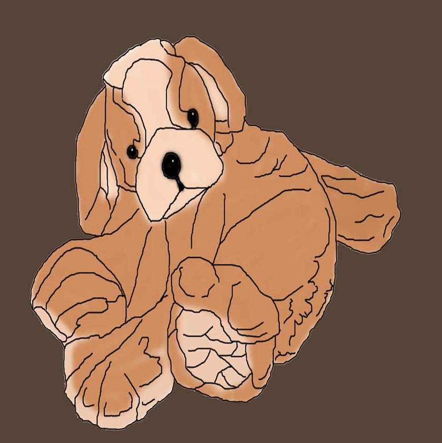 Artwork Digital Art - Soft Puppy by Jayvon Thomas