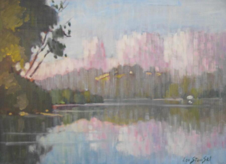 Reflections Painting - Soft Reflections by Len Stomski